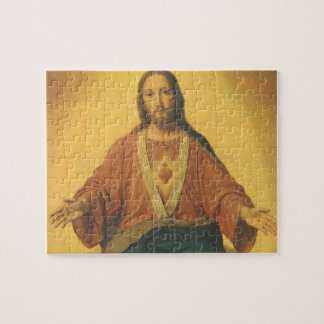 Puzzle Religion vintage, coeur sacré de Jésus-Christ