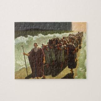 Puzzle Religion vintage, croisement de Moïse de la Mer