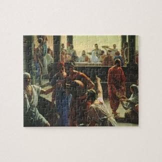 Puzzle Religion vintage, Jésus-Christ au mariage de Cana