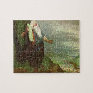 Puzzle Religion vintage, Moïse et 10 commandements