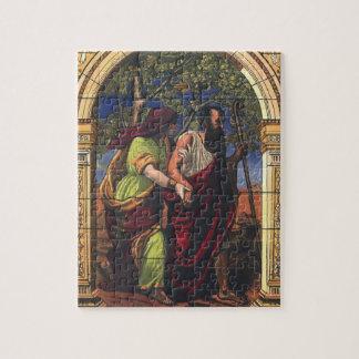 Puzzle Religion vintage, Tobit aveugle et épouse Anna