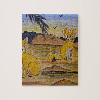 Puzzle Renards de Fennec dans le désert