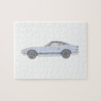 Puzzle Rendu bleu de style de crayon de Datsun 240Z