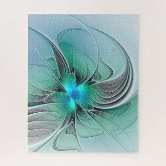 Puzzle Résumé avec l'art bleu et moderne de fractale