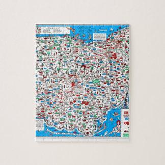 Puzzle Rétro carte 1966 de l'Ohio