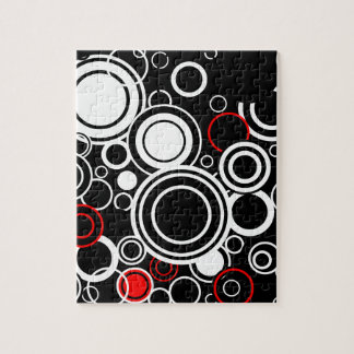 Puzzle Rétros cercles rouges et blancs