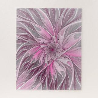 Puzzle Rêve rose de fleur de fractale, motif floral