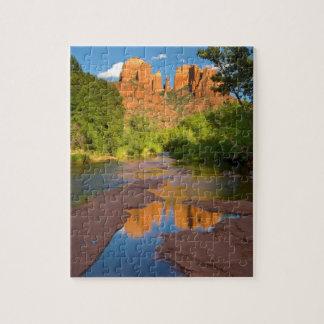 Puzzle Rivière au croisement rouge de roche, Arizona
