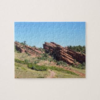 Puzzle roches rouges en Morrison, le Colorado