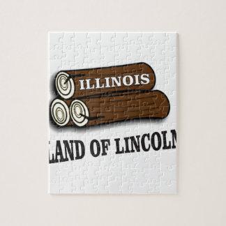 Puzzle Rondins de l'Illinois de Lincoln