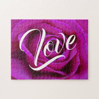 Puzzle rose d'amour