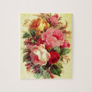 Puzzle rose de bouquet de cru