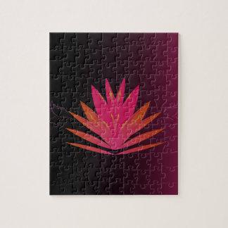 Puzzle Rose de Lotus sur le noir