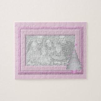 Puzzle rose d'image de cadre de photo de bébé d'ar