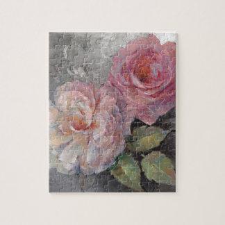 Puzzle Roses sur le gris