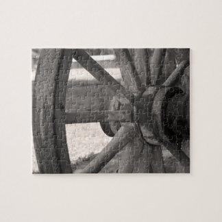Puzzle Roues en bois antiques
