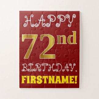 Puzzle Rouge, anniversaire d'or de Faux soixante-douzième
