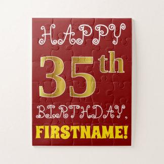 Puzzle Rouge, anniversaire d'or de Faux trente-cinquième