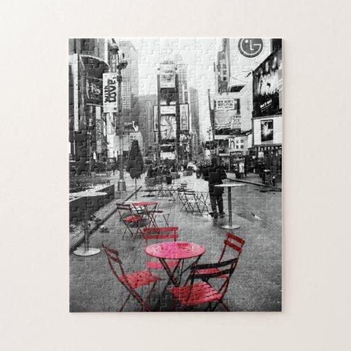puzzle rouge blanc noir de times square zazzle. Black Bedroom Furniture Sets. Home Design Ideas
