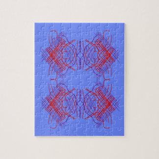 Puzzle Rouge bleu de mandala de conception
