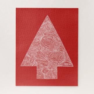 Puzzle Rouge d'arbre de Noël