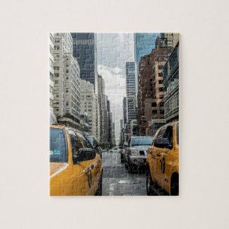 Puzzle Route Nyc de rue de New York de cabine du trafic