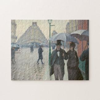 Puzzle Rue de Paris ; Jour pluvieux par Caillebotte