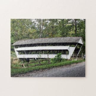 Puzzle rural de pont couvert