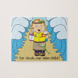 Puzzle sage d'enfant de pâque pour des enfants