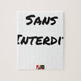 Puzzle SANS INTERDIT - Jeux de mots - Francois Ville