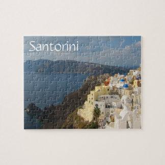 Puzzle Santorini pendant l'après-midi Sun