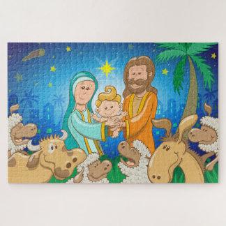 Puzzle Scène douce de la nativité du bébé Jésus