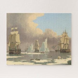 Puzzle Scène mâtée d'océan de bateaux du Pôle Nord trois