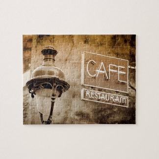 Puzzle Signe de café de sépia, Paris, France