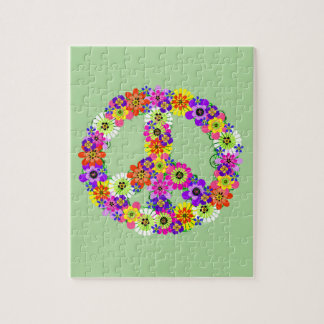 Puzzle Signe de paix floral
