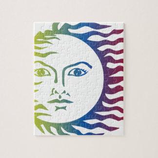 Puzzle Solaire léger chaud de visage coloré