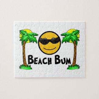 Puzzle Soleil et palmiers sans valeur de plage