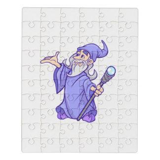 Puzzle Sorcière pourpre magique de magicien de magicien