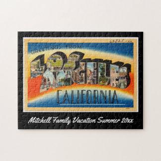 Puzzle Souvenir vintage de famille de carte postale de