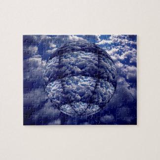 Puzzle Sphère abstraite du nuage 3D
