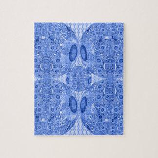 Puzzle Sphères psychédéliques bleues