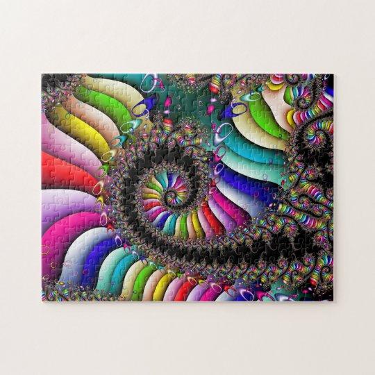 Puzzle Spirale multicolore de fractale