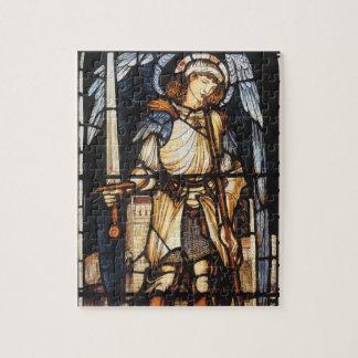 Puzzle St Michael par Burne Jones, Arkhangel vintage