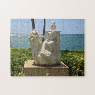 Puzzle Statue de femme jouant la cannelure, Waikoloa,