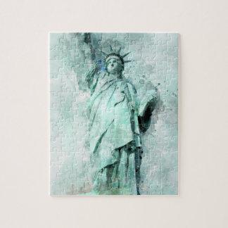 Puzzle Statue de la peinture de liberté