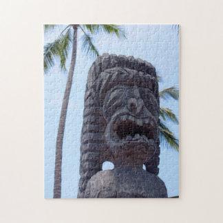 Puzzle Statue de Tiki dans Kona, Hawaï