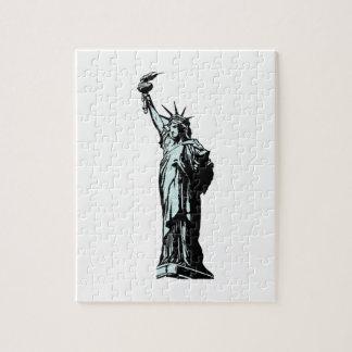 Puzzle Statue du dessin de liberté