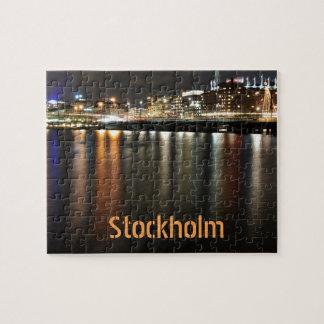 Puzzle Stockholm, Suède la nuit