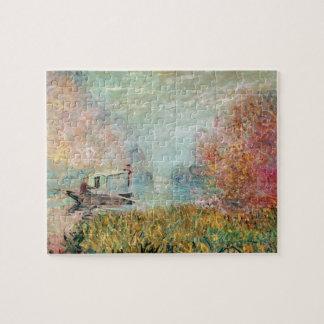 Puzzle Studio de bateau de Claude Monet | sur la Seine