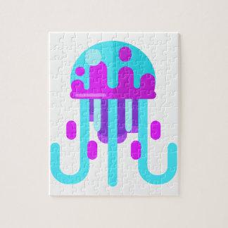 Puzzle Style de primitif de méduses